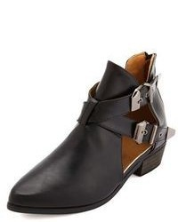 Charlotte Russe Pointy Toe Belted Cut Out Ankle Booties