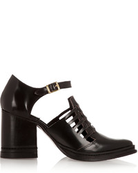 Purified Nix Cutout Leather Ankle Boots