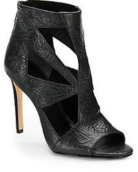 Rachel Roy Lexxi Cutout Embossed Leather Ankle Boots