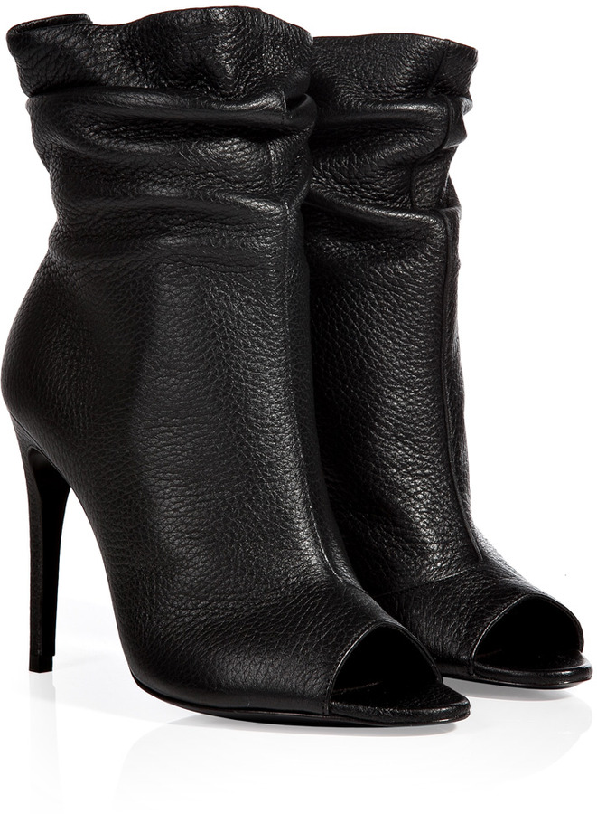 hot-selling clearance limited sale modern and elegant in fashion $850, Burberry Shoes Accessories Leather Burlison Open Toe Ankle Boots