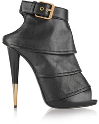 Giuseppe Zanotti Tiered Leather Ankle Boots