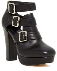 Madison Harding Zenia Buckle Leather Bootie