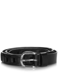 Black Cutout Leather Belt