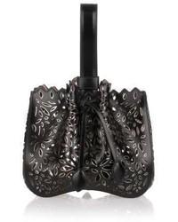 Alaa black and metallic leather bucket bag medium 3645604