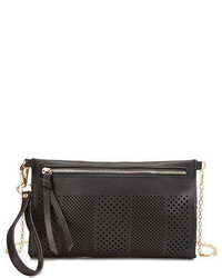 Laser cut out cross body purse medium 181588