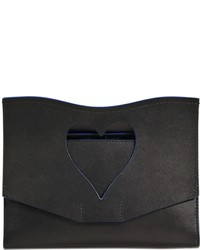 Medium cut out curl smooth leather clutch medium 3645598