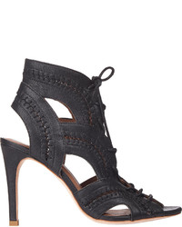 Joie Lace Up Remy Ankle Booties Black