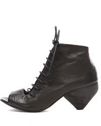 Marsèll Marsell Lace Up Leather Booties In Black