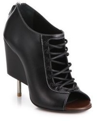 Givenchy Open Lace Up Leather Booties