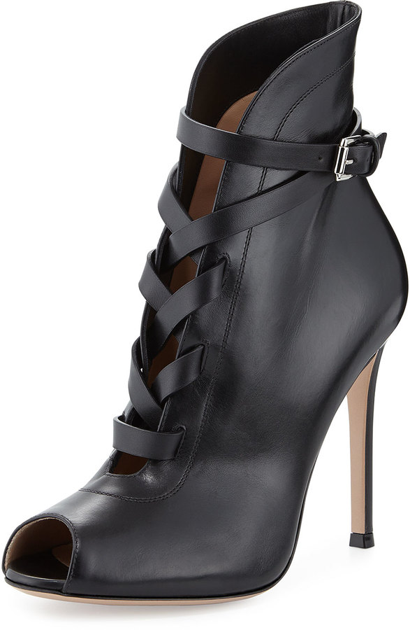 Sergio Rossi lace-up open toe boots clearance looking for FYOQpT1Toc
