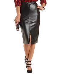 5twelve Paneled Faux Leather Midi Pencil Skirt Black | Where to ...
