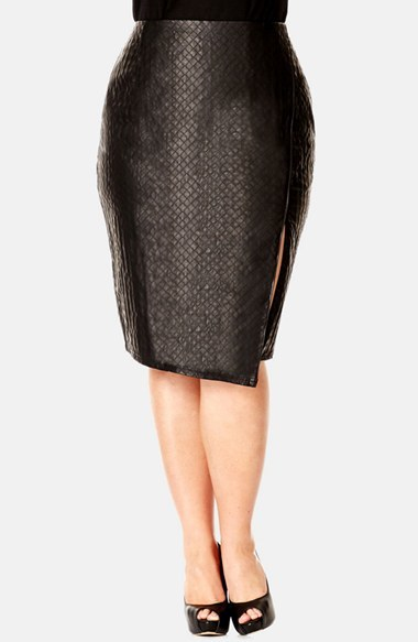 City Chic Quilted Faux Leather Skirt | Where to buy & how to wear : quilted faux leather skirt - Adamdwight.com