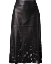 Dion Lee Cut Out Leather Skirt