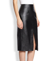 Nicholas Front Slit Leather Pencil Skirt | Where to buy & how to wear