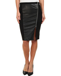 MICHAEL Michael Kors Michl Michl Kors Leather Panel Zip Skirt