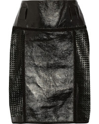 Perforated glossed leather skirt medium 318358