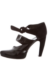 Balenciaga Patent Leather Cutout Pumps