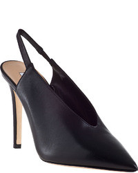 Diane von Furstenberg Beauty Slingback Pump Black Leather