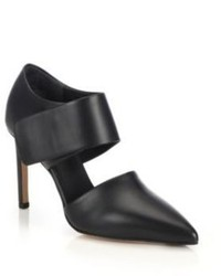 Vince Capri Leather Cutout Pumps