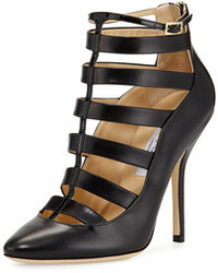 Jimmy Choo Freeze Strappy Cage Pump Black