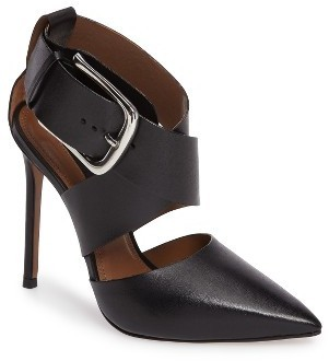 Topshop Gallon Buckle Cutout Pump