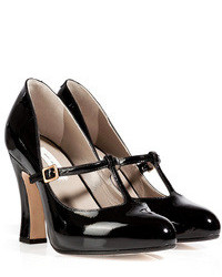 Marc Jacobs Patent Leather T Strap Mary Janes In Black