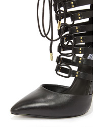 064d9d49f44 ... Steve Madden Sts Black Leather Lace Up Heels ...