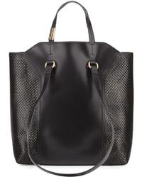 Foley + Corinna Clio Laser Cut Leather Tote Bag Black