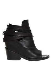 Cinzia Araia 110mm Open Toe Leather Boots