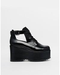 Asos Every Move You Make Wedge Ankle Boots Black