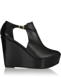 Robert Clergerie Filona Cutout Leather Wedge Boots
