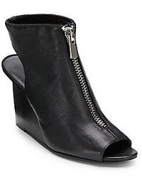 Nine West Hollyroot Peep Toe Wedge Ankle Boots