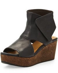 Mind cutout cork wedge bootie medium 96865