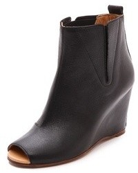 Maison Martin Margiela Mm6 Open Toe Wedge Booties