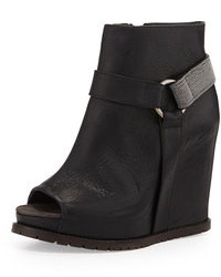 Monili halter wedge bootie black medium 96892
