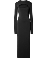 Marc Jacobs Cutout Stretch Crepe Maxi Dress