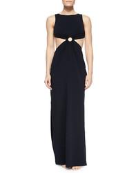Michael Kors Michl Kors Cutout Waist Jersey Maxi Dress