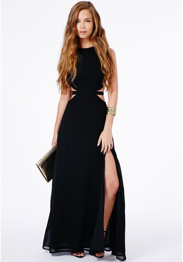Collection Black Cut Out Maxi Dress Pictures - Reikian