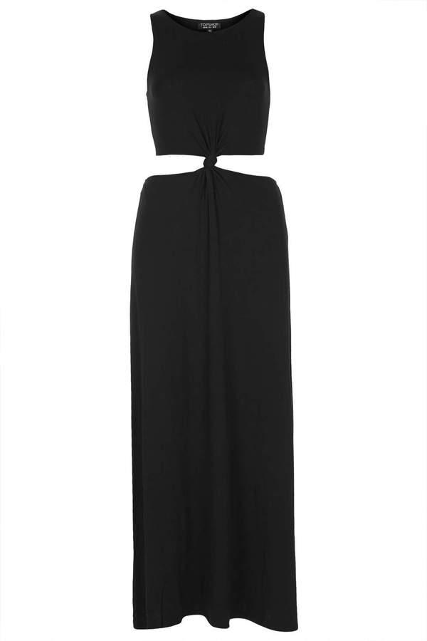Black Side Cut Out Maxi Dress