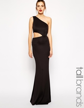 24fd74609 ... Jarlo Tall Cut Out One Shoulder Maxi Dress ...