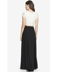 Express High Waisted Wrap Maxi Skirt Black | Where to buy & how to ...