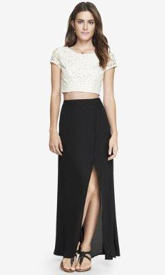 1cbb12a710 Express High Waisted Wrap Maxi Skirt Black, $69 | Express ...