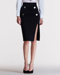 Black Cutout Pencil Skirt