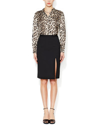 L'Agence High Slit Pencil Skirt