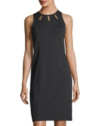 Michl michl kors grommet cutouts shift dress medium 4416151