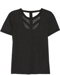Cutout burnout effect jersey t shirt medium 77540