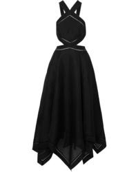 Zimmermann Corsage Cutout Silk And Halterneck Maxi Dress