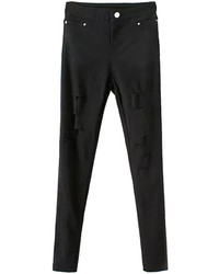 Choies Black Skinny Cut Out Pants