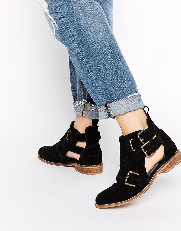 b8b926006a5 $81, Asos Collection Amy Cut Out Suede Ankle Boots