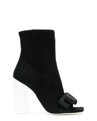 Lanvin Open Toe Bow Boots